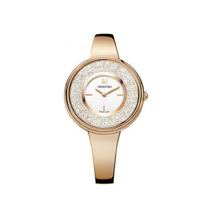 Crystalline Pure White & Rose Gold Watch