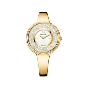 Crystalline Pure Gold Tone Bracelet Style Watch