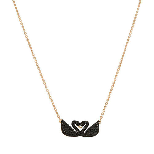 Iconic Swan Double Rose Gold Plated Necklace