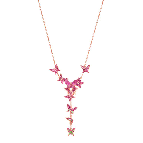 Lilia Y Triangle Rose Gold Plated Necklace