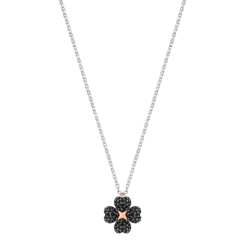 Latisha Flower Black and Necklace