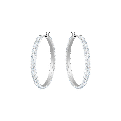 Stone Hoops Earrings