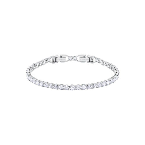 Tennis Round Deluxe Clear Bracelet