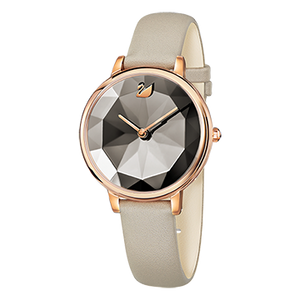 Crystal Lake Taupe Grey Rose Gold Watch