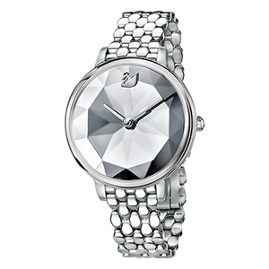 Crystal Lake White Silver Mesh Watch