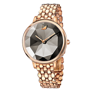 Crystal Lake Grey Rose Gold Mesh Watch