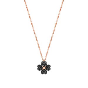 Latisha Flower Black Rose Gold Pendant