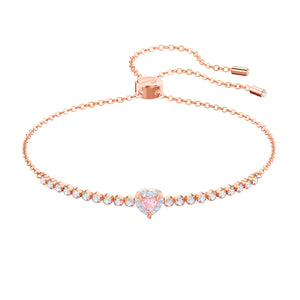 One Rose Gold Subtle Bracelet - Medium