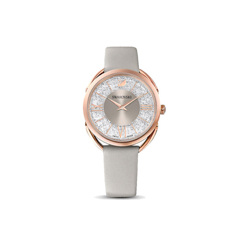 Crystalline Glam Beige Rose Gold Grey Watch