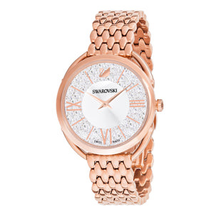 Crystalline Glam Rose Gold Watch