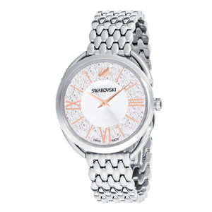 Crystalline Glam Silver Watch