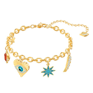Lucky Goddess Yellow Gold Charm Bracelet