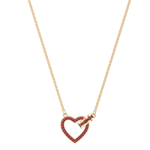 Lovely Red Yellow Gold Necklace