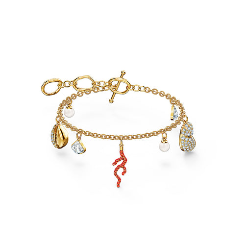 Shell Coral Bracelet Red Gold-Tone Plated