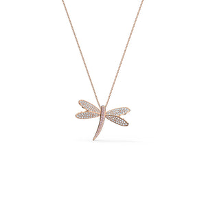 Eternal Flower Necklace White Rose-Gold Tone Plated