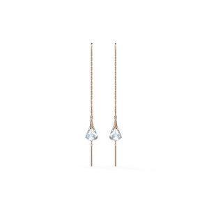 Spirit Pierced Earrings White Rose-Gold Tone Plated