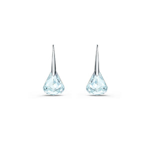 Spirit Pierced Earrings Aqua Rhodium Plated