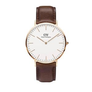 Classic 40mm Bristol Rose Gold White Watch