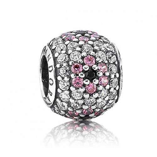 Pink Pave Cherry Blossom Charm