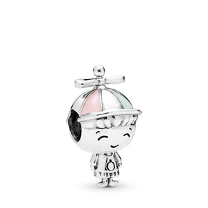 Propeller Hat Boy Silver Charm
