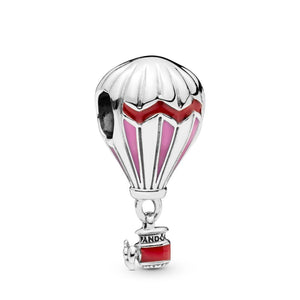 Red Hot Air Balloon Silver Charm