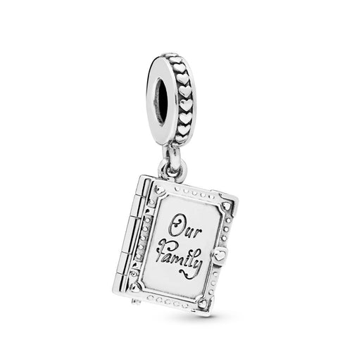 83c144cf1 Family Book Silver Hanging Charm | Silvermoon
