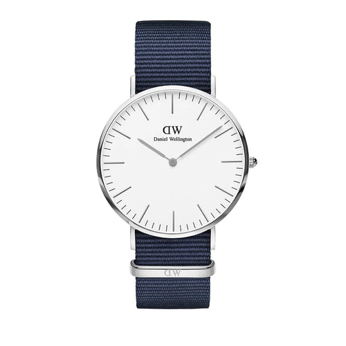 Classic 40mm Bayswater Silver White Watch