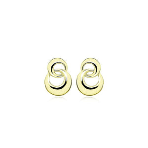 9ct Gold Forget Me Knot Stud Earrings