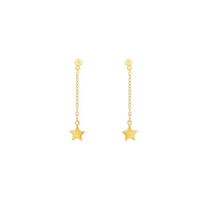 Gold Plated Wish Upon A Star Thread Earrings