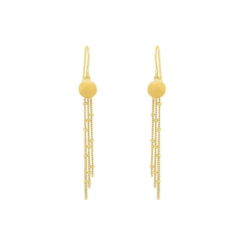 Gold Plated Pebble Drop Earrings