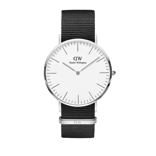 Classic 40mm Cornwall Silver White Watch