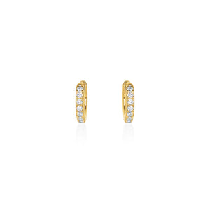 Gold Plated Estrella Cz Huggie Earrings