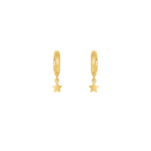 Gold Plated Mini Star Huggie Earrings