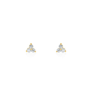 Gold Plated Portia Cz Stud Earrings