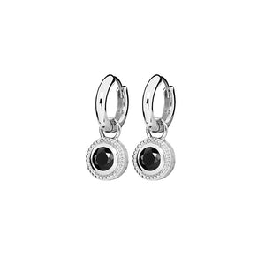 Sterling Silver Nella Cubic Zirconia Earrings - Black