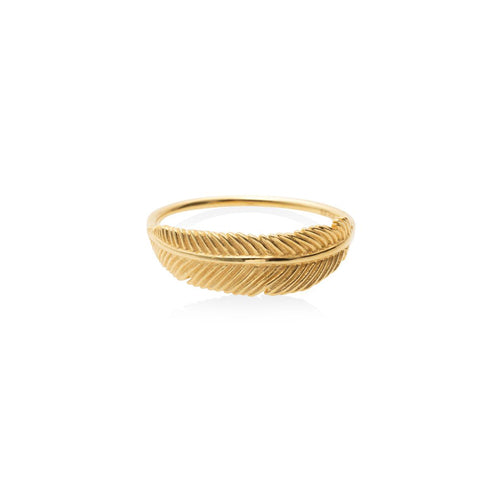 9ct Gold Miromiro Feather Ring