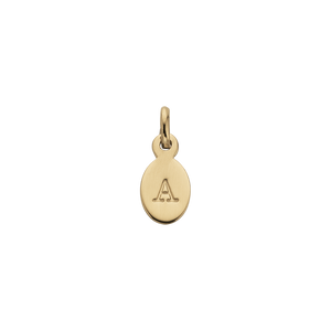 18ct Gold Plated Vermeil A Oval Letter Charm