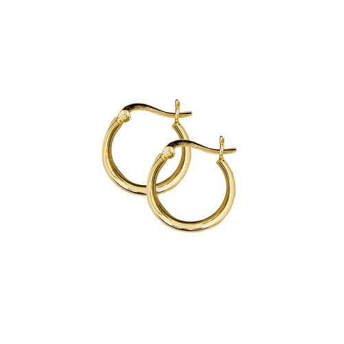 Gold Plated Wide Hoop Earrings