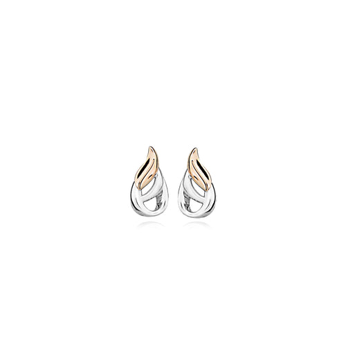 Silver Adair Stud Earrings