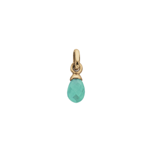 18ct Gold Plated Vermeil Amazonite Gemstone Charm