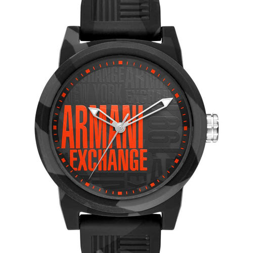 Mens 3H Black And Gray Silicone Watch