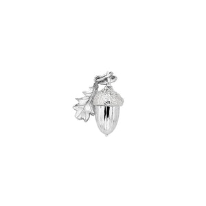 Silver Acorn and Leaf Charm