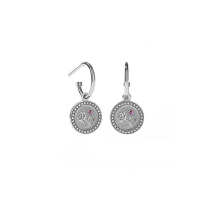 Silver Amulet Earrings - Love