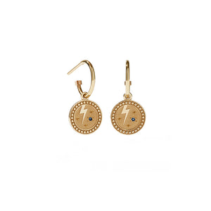 Gold Plated Amulet Earrings - Strength
