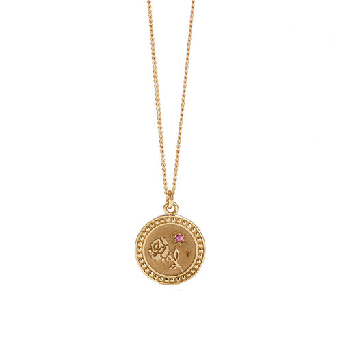 Gold Plated Amulet Necklace - Love
