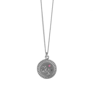 Silver Amulet Necklace - Love