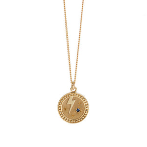 Gold Plated Amulet Necklace - Strength