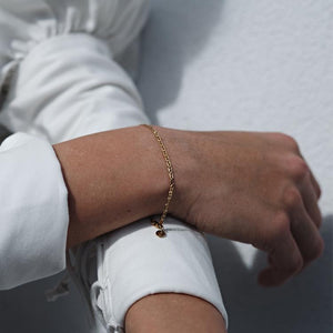Gold Plated Anchor Chain Bracelet