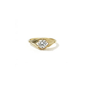 9ct Yellow Gold Aphrodite Ring - White Diamond