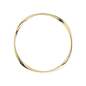Garden Of Eden Bangle - Yellow Gold Plated